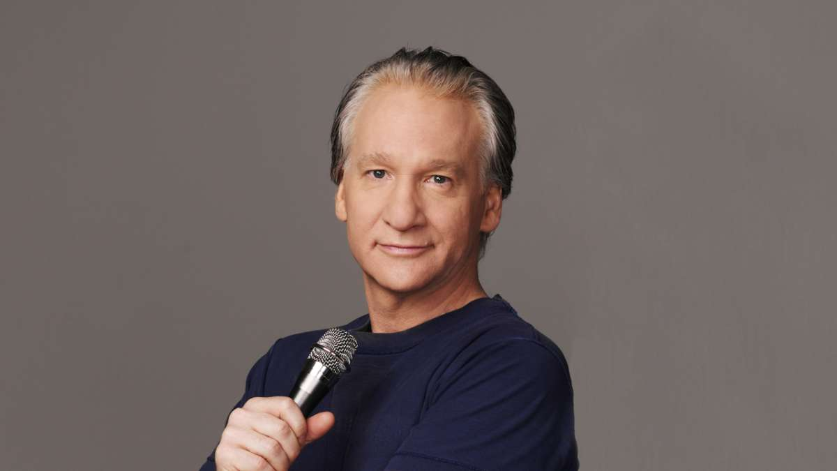 Bill Maher with microphone