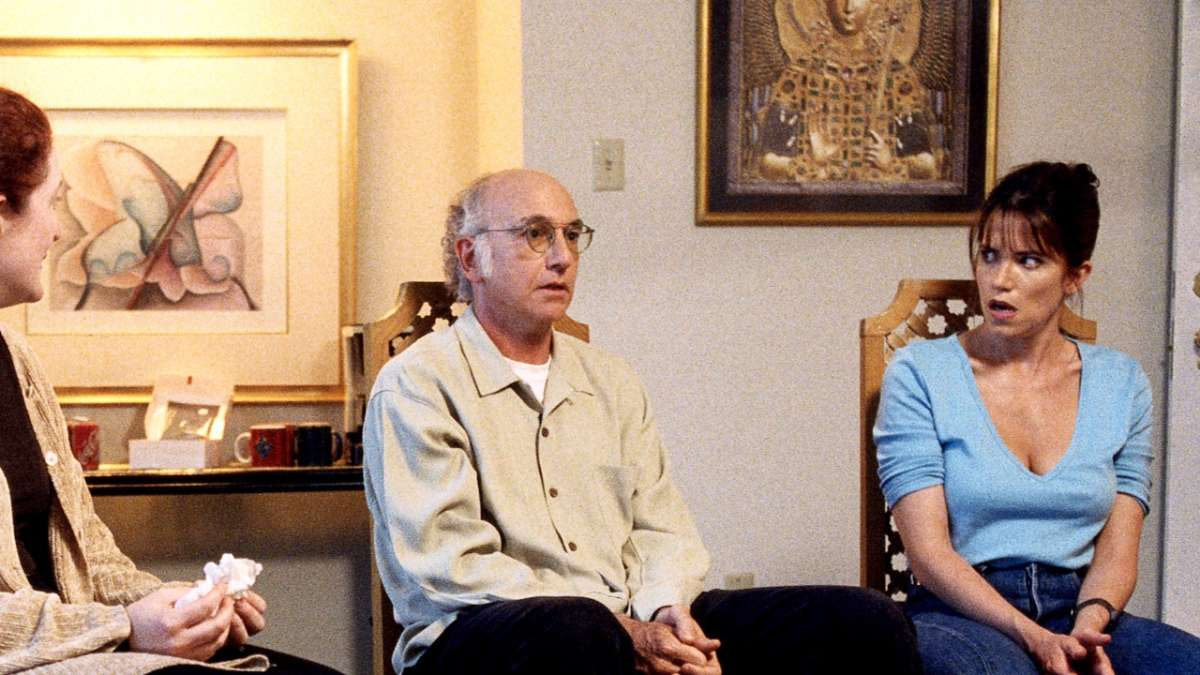 Larry David shares with group woman shocked