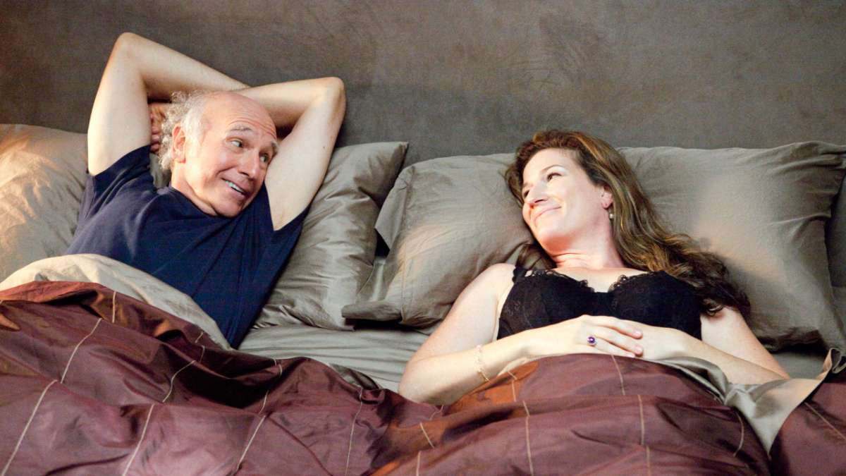 Larry in bed with Jennifer