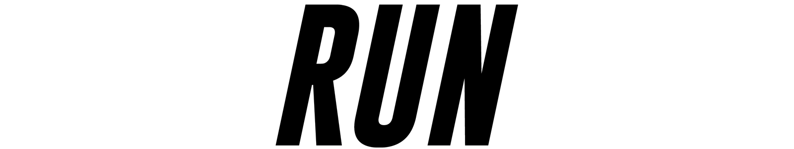 Run Title Treatment